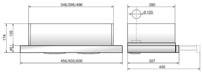 Elikor Интегра 50П-400-В2Л черный/нерж.